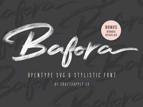 Bafora Hand Brush Font