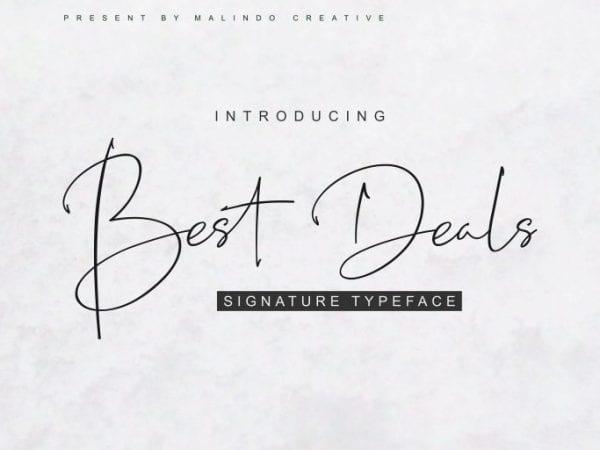 Best Deals Handwritten Script Font