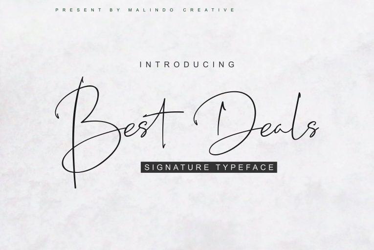 Best Deals Handwritten Script Font - Mockup Free Downloads