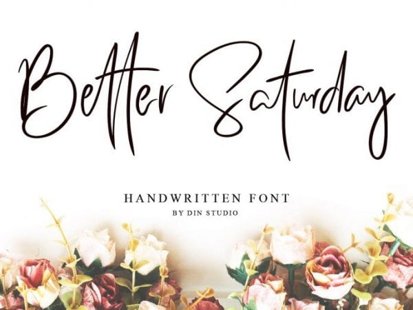 Better Saturday Handwritten Brush Font