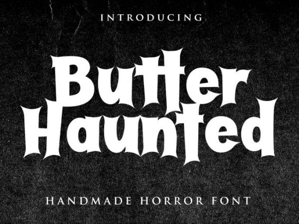 Butter Haunted Free Serif Display Fonts
