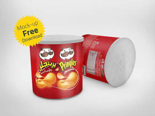 Chips Can Mockup PSD Template