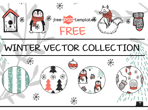 Collection Of Winter Vector Free Download