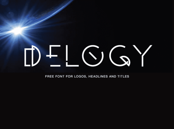 Delogy Free Display Fonts