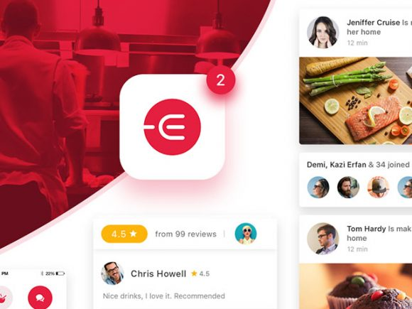 Edacious - Food UI Kit In PSD