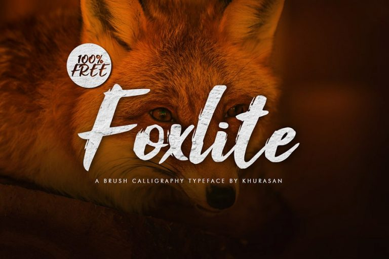 Foxlite Free Brush Calligraphy Font
