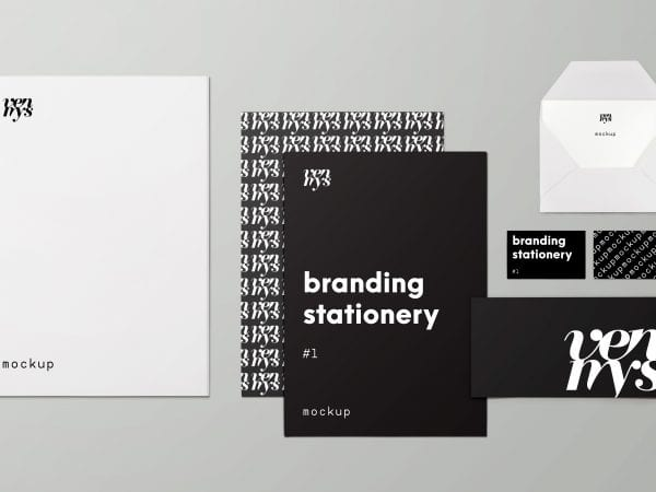Free Branding Stationery Mockup PSD Template