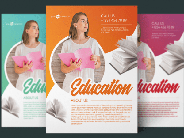 free education flyer templates archives mockup free downloads