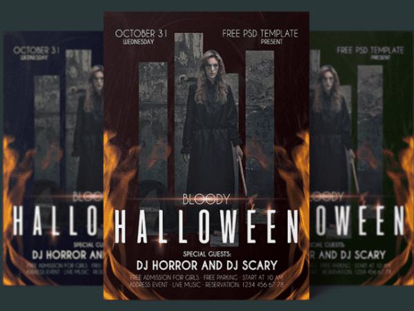 Free Halloween Flyer PSD Template