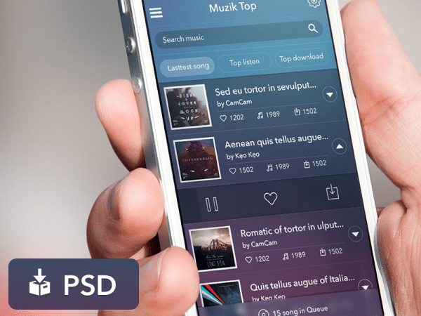 Free Music App UI