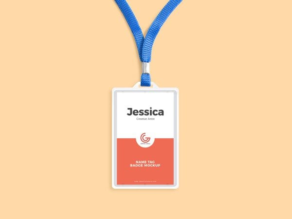 Name Tag Badge MockUp Template