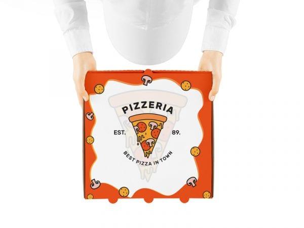 Free Pizza Box PSD MockUp Template