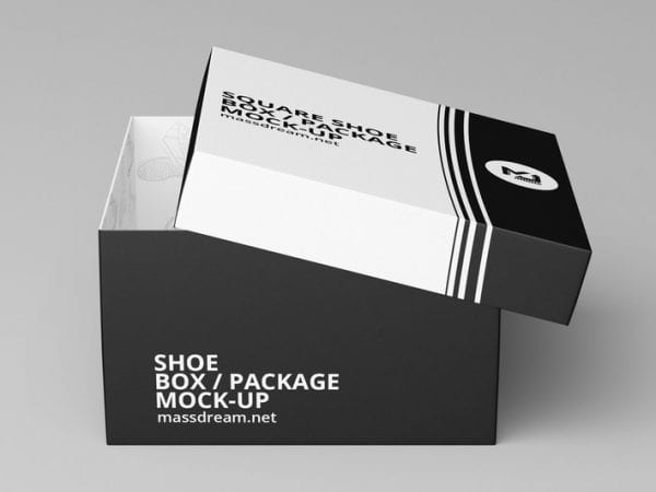 Free Shoe Box Mockup PSD Template