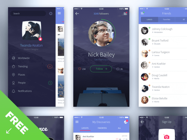 Free iPhone 6 UI Kit