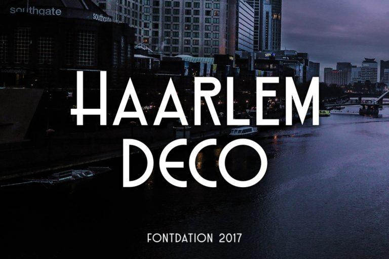 Haarlem Deco Free Sans Serif Typeface 1