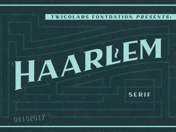 Haarlem Free Modern Serif Typefaces
