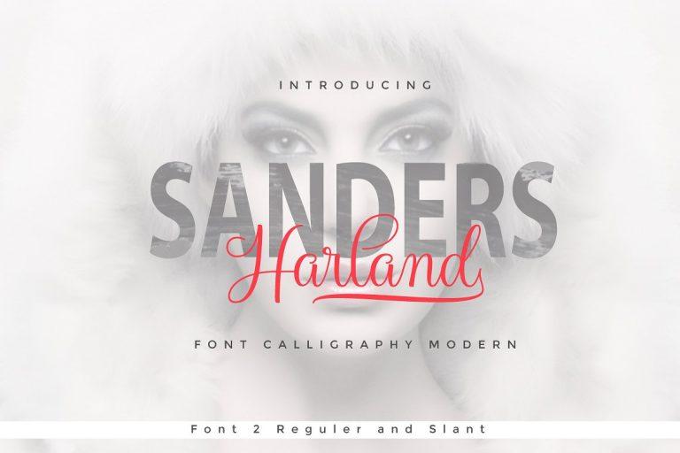 Harland Modern Calligraphy Script Font