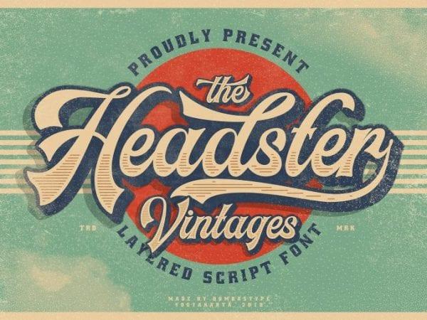 Headster Vintage Brush Font
