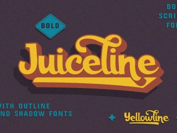 Juiceline Free Bold Script Font