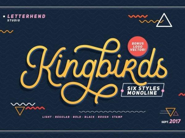 Kingbirds Calligraphy Script Font