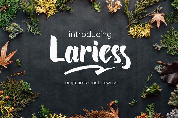 Lariess Free Brush Script Font
