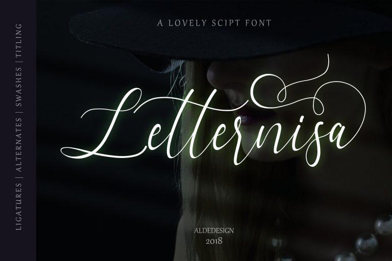 Letternisa Free Handmade Calligraphy Font