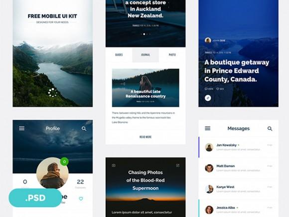 Mobile App UI Design For Travel Magazines