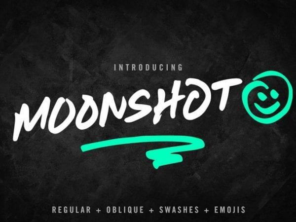 Moonshot Brush Script Typeface