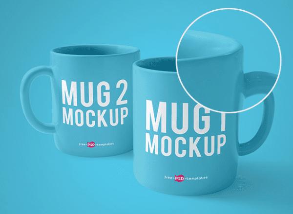 Mug Mockup Free PSD Template