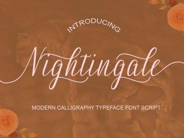 Nightingale Handwritten Calligraphy Font