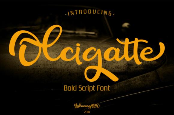Olcigatte Free Comic Script Font