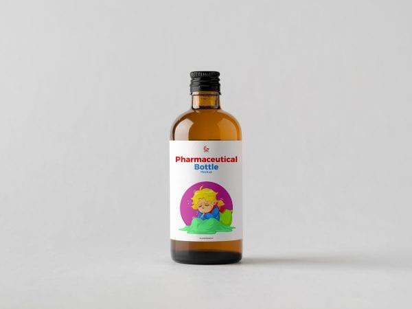 Pharmaceutical Bottle Mockup PSD Template
