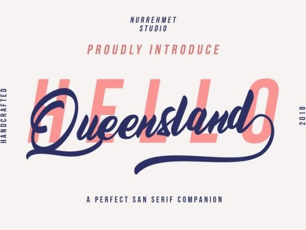 Queensland Modern Script Fonts