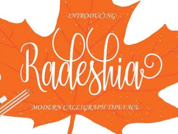 Radeshia Handwritten Calligraphy Font