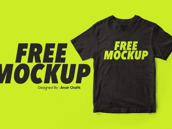 Realistic T Shirt Mockup PSD Template