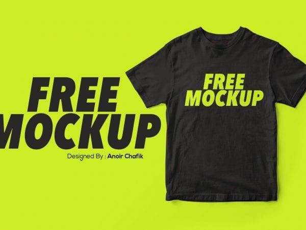 Realistic T Shirt Mockup PSD Template