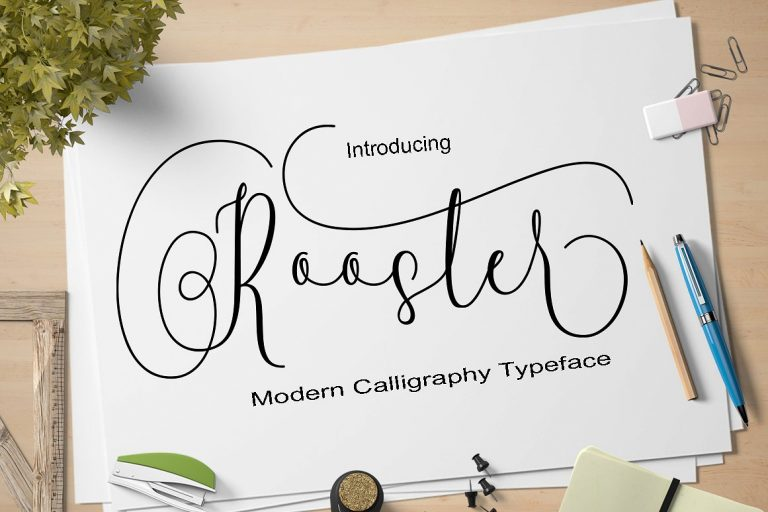 Rooster Free Handwritten Calligraphy Font