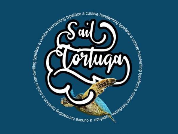 Sail Tortuga Handwritten Calligraphy Font