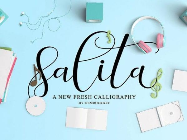Salita Handwritten Calligraphy Font