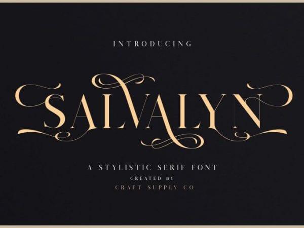 Salvalyn Elegant Serif Typeface