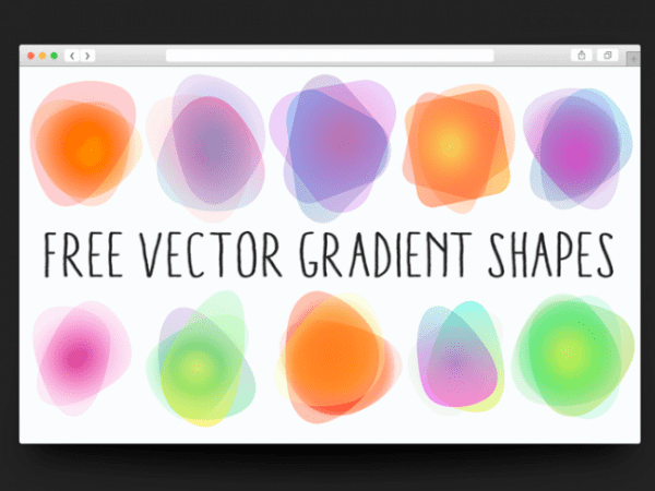 Set Of 10 Vector Gradient Shapes