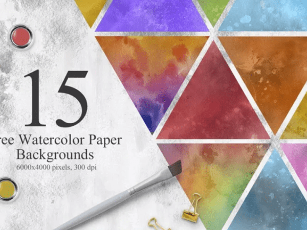 Set Of 15 Free Watercolor Texture