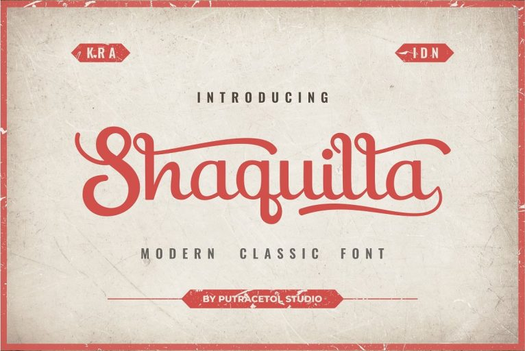 Shaquilla Handwritten Calligraphy Font
