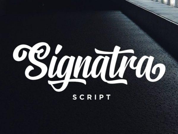 Signatra Brush Script Typeface