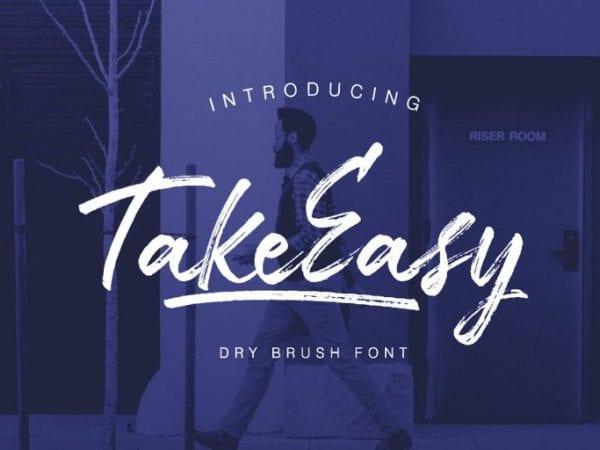 TakeEasy Brush Script Typeface