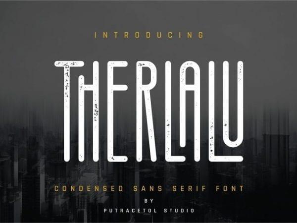 Therlalu Free Sans Serif Typeface