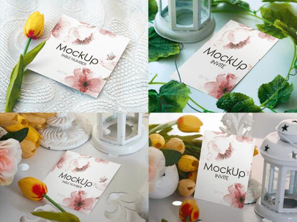 Wedding Invitation Mockup PSD Template