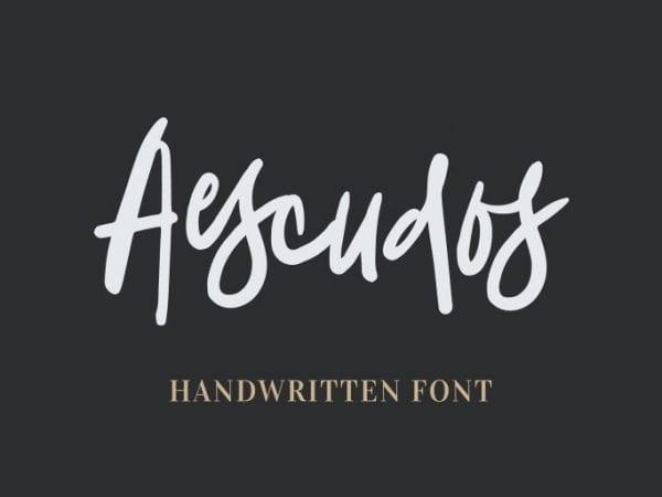Aescudos Handwritten Brush Script Font