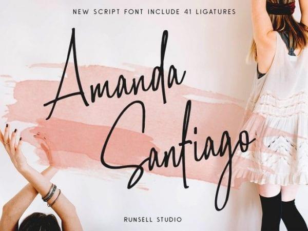 Amanda Santiago Handwritten Script Font