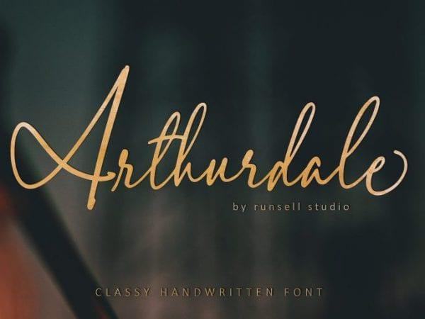 Arthurdale Handwritten Script Font
